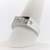 6.8G Gentleman's Fashion Ring in 18K White Gold
