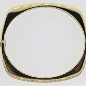 25.2G Gold Diamond Bangle in 14K Yellow Gold