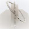 Large Diamond and 26.9G White Gold Hoop Earrings