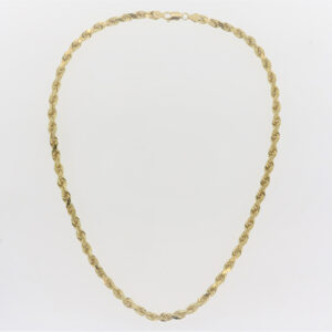 24 Inch 14K Yellow Gold Rope Chain
