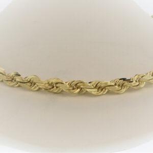 24 Inch 14K Yellow Gold Rope Chain