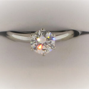 2.4G Ladies Solitaire Ring Set in White Gold