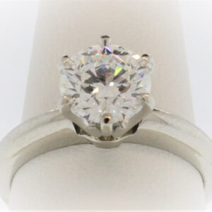 6.7G Ladies Diamond Solitaire set in Platinum