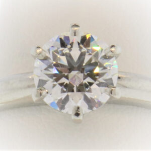 6.7G Ladies Diamond Solitaire set in Platinum