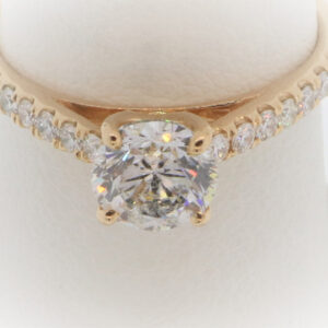 2.2G Ladies Diamond Engagement Ring set in 14K Rose Gold
