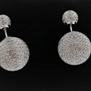 13.2G Gold Diamond Earrings in White Gold