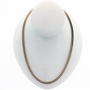 89.2G 30 Inch Fashion Chain in 14K Yellow Gold seen entirely
