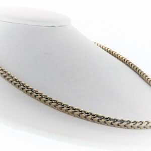 89.2G 30 Inch Fashion Chain in 14K Yellow Gold on a chain mount