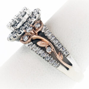 4.7G Ladies Diamond Fashion Ring in 2 Tone