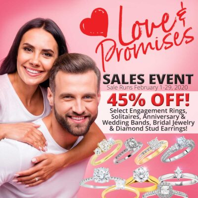 Man and woman in love bridal jewelry Love and Promises Sale