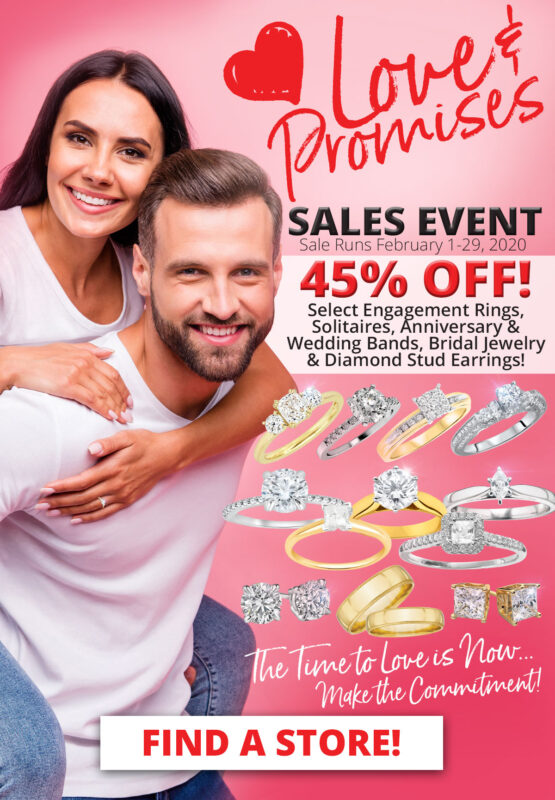 February Love and Promises Sale woman and man in love