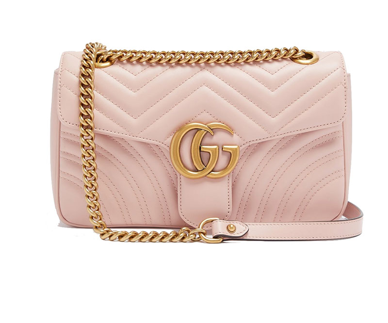 Gucci Pale Pink Tufted Handbag