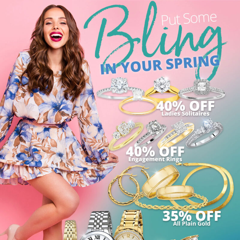 Put Some Bling IN YOUR SPRING Sale on jewelry