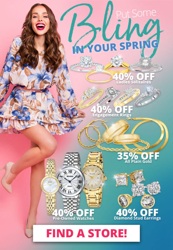 Put Some Bling IN YOUR SPRING Sale on Select Jewelry