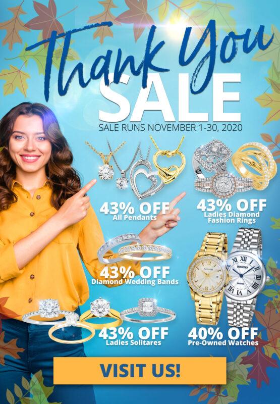 Thank You SALE Sale Runs November 1-30, 2020